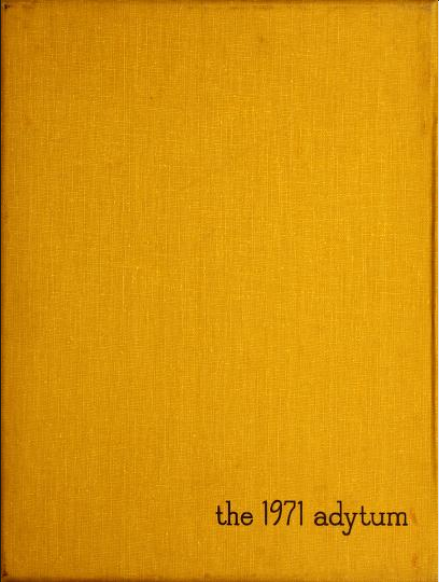 Cover of the 1971 Adytum Yearbook