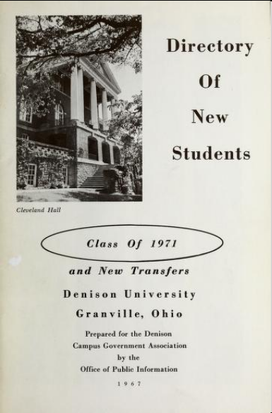 Cover of the 1971 Denison Baby Book