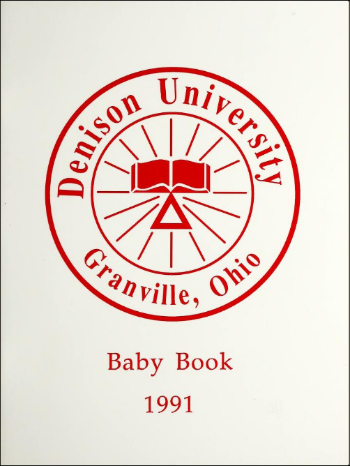 Cover of the 1970 Denison Baby Book